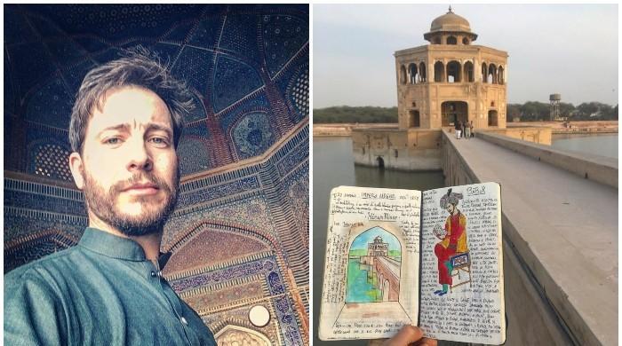 اطالوی فنکار کا پاکستان کی تاریخ و ثقافت بیان کرنے کا دلچسپ انداز