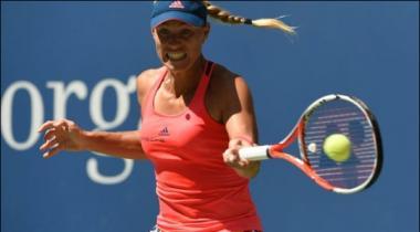 Us Open Tennis Keber Win First Round Match