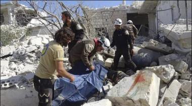 Air Strike On Syria Adlab Area 28 Dead