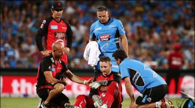 Australian Keeper Batsman Peter Nevill Injured After Being Hit With Bat