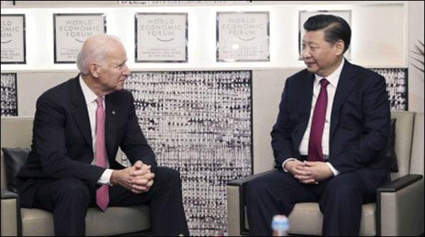 ڈیووس میں جوبائیڈن اور چینی صدرکی ملاقات