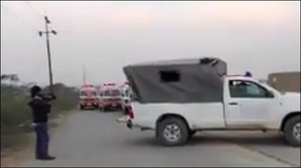 Karachi Super Highway Pa Police Muqabla 9 Dehsat Gard Halak