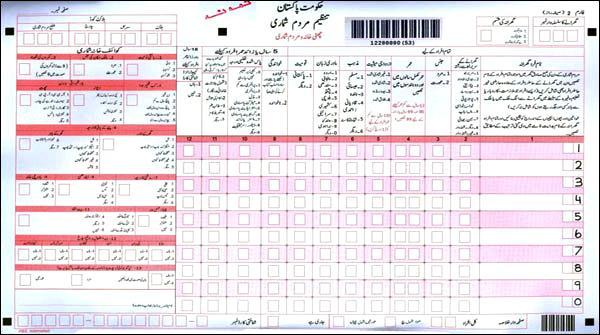 پاکستان میں چھٹی مردم شماری کا آغاز
