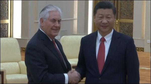 شمالی کوریا کا معاملہ ،امریکی وزیر خارجہ کی چینی رہنمائوں سے ملاقات