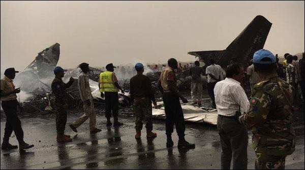 جنوبی سوڈان کا طیارہ کریش لینڈنگ کا شکار، اٹھارہ افراد زخمی