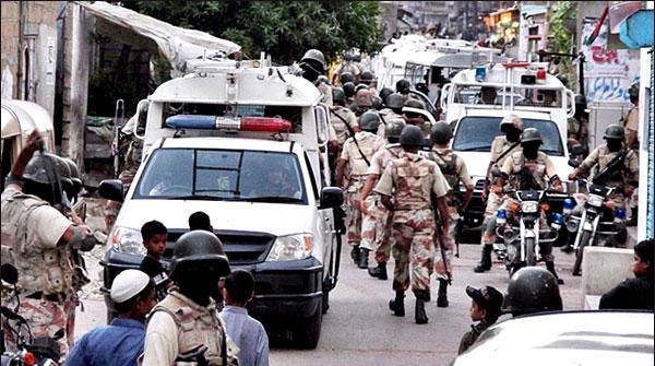 Karachi Main Operation Per Sawaliya Nishan