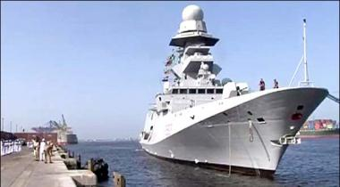 Karachi Arrival Of The Italian Navy Ship The Navy Welcomed