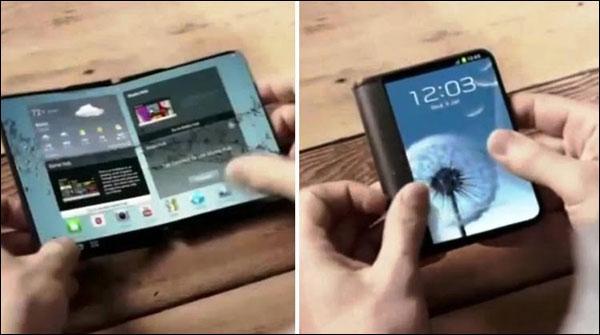 ڈبل اسکرین اور تہہ ہونیوالے موبائل فون کی تیاری