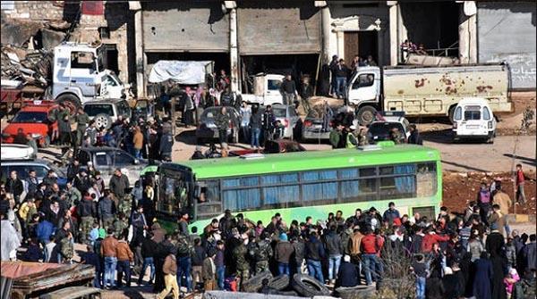 تین ہزار شامیوں کو محصور شہروں سے نکال لیا گیا