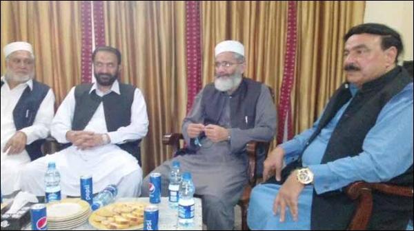 سراج الحق کی لال حویلی میں شیخ رشید سے ملاقات