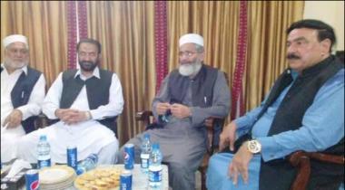 Irshad Ul Haq Ki Laal Haveli May Sheikh Rasheed Say Mulaqat