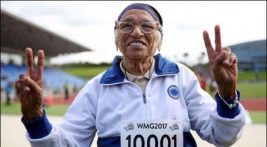 101 Saala Bharti Khatoon Nay 100 Meter Race Jeet Li