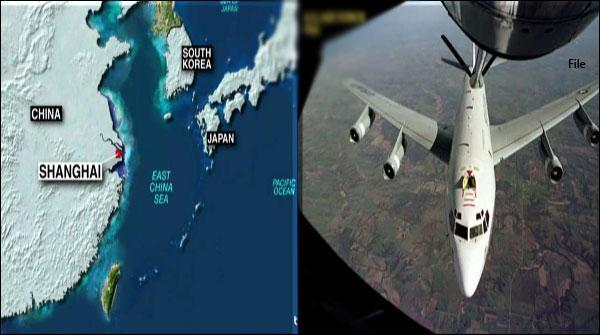 چینی طیاروں نے امریکی طیارے کو حدود میں داخلے سے روک دیا