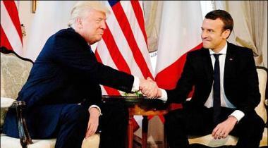 Trump Ka Musafah Franceci Sadar Bhi Nishanay Par