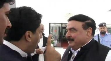 Sheikh Rasheed Scuffle National Assembly