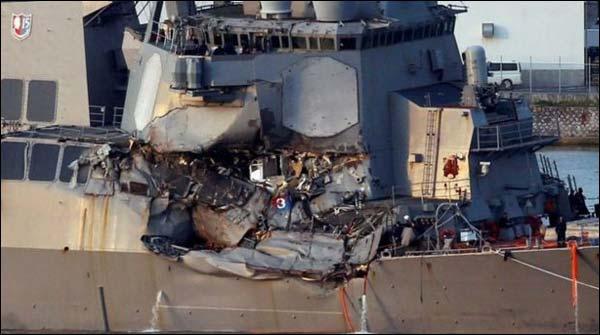امریکی بحری جہاز حادثہ، لاپتہ فوجیوں کی لاشیں مل گئیں