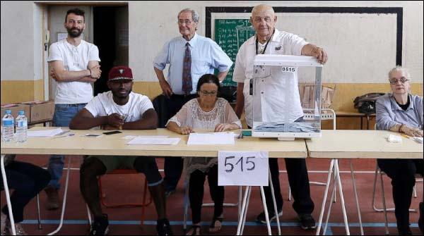 فرانس :پارلیمانی انتخابات کے دوسرےمرحلے میں پولنگ
