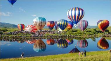 Amrica Colorado Men Hua Salana Hot Air Balloon Festival