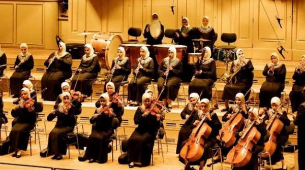 مصر میں نابینہ خواتین کا میوزک کنسرٹ