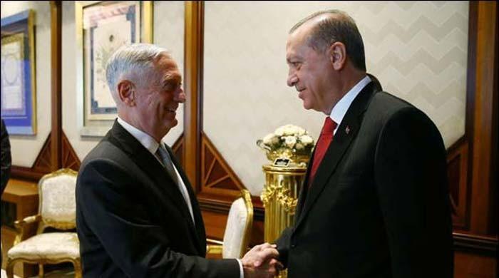 امریکی وزیر کی انقرہ میں ترک صدر سے ملاقات