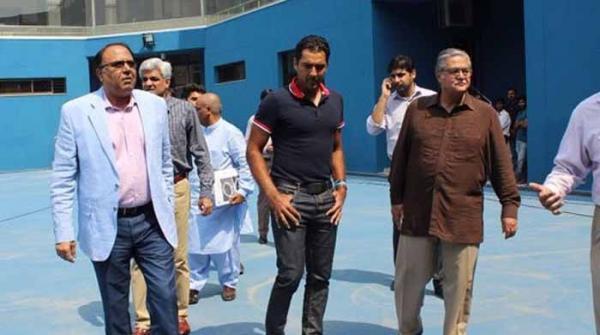 اعصام الحق نے لاہور میں ٹینس کورٹ کا افتتاح کردیا
