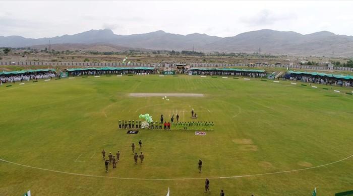 شمالی وزیرستان میں برطانوی میڈیا اور پاکستان الیون کے درمیان دوستانہ میچ