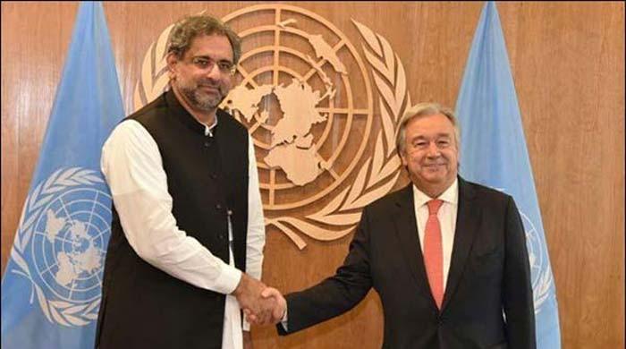 وزیراعظم خاقان کی سیکریٹری جنرل اقوام متحدہ سے ملاقات