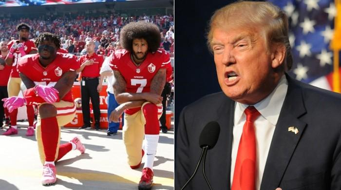 ٹرمپ کے بیان پر سیاہ فام فٹبالرز بھڑک اٹھے، قومی ترانے پر کھڑے ہونے سے انکار