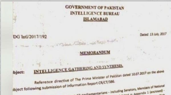 حکومت کا آئی بی کے مبینہ خط پر مقدمہ درج کرانے کا فیصلہ، ذرائع