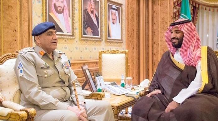 آرمی چیف سے سعودی ولی عہد شہزادہ محمد بن عبدالعزیز کی ملاقات