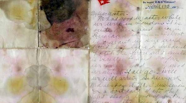 ٹائی ٹینک کے مسافر کی جیب سے ملنے والا خط ایک کروڑ 66 لاکھ روپے میں نیلام