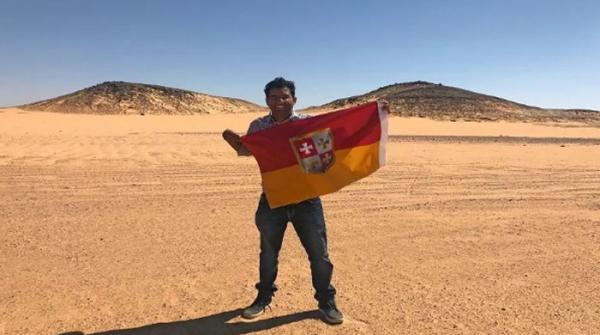 بھارتی مہم جو، شمالی افریقہ میں واقع زمین کی پٹی کا 'بادشاہ' بن گیا