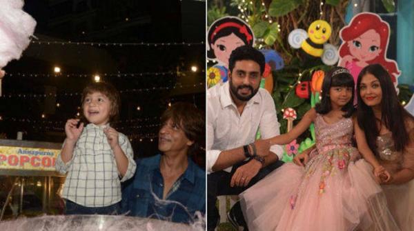 ایشوریا کی بیٹی کی سالگرہ، شاہ رخ کا بیٹا 'کاٹن کینڈی' دیکھ کر خوش