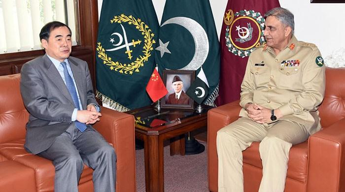 آرمی چیف سے چینی نائب وزیر خارجہ کی ملاقات
