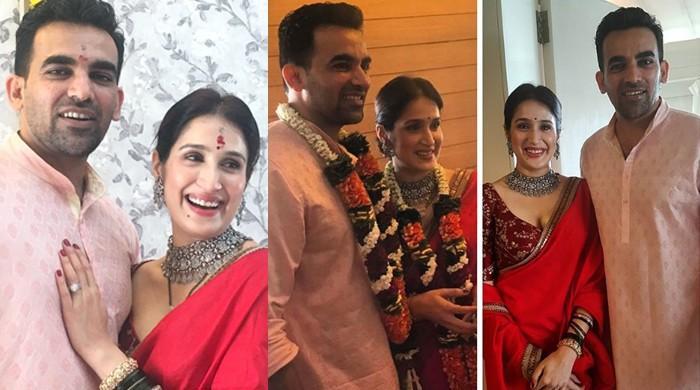 ظہیر خان نے اداکارہ ساگاریکا سے کورٹ میرج کرلی