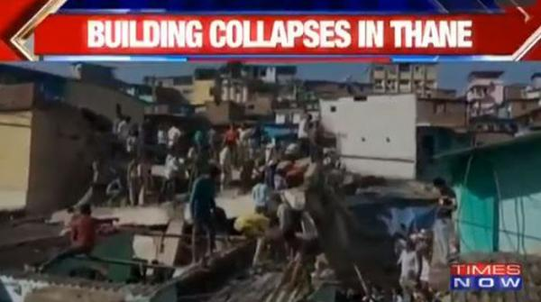 بھارتی شہر بھیونڈی میں عمارت گر گئی، ایک شخص ہلاک اور متعدد زخمی