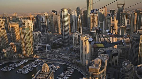 دبئی میں دنیا کی طویل ترین اَربن زپ لائن کا افتتاح