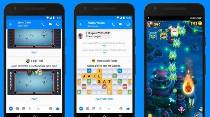 فیس بک میسنجر پر اب گیمز کھیلنے کے دوران ویڈیو چیٹ بھی ممکن