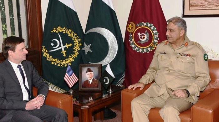 آرمی چیف سے امریکی سفیر کی ملاقات، دو طرفہ تعلقات پر تبادلہ خیال