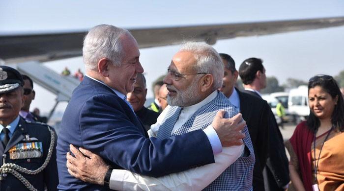 اسرائیلی وزیر اعظم بن یامین نیتن یاہو 6 روزہ دورے پر بھارت پہنچ گئے