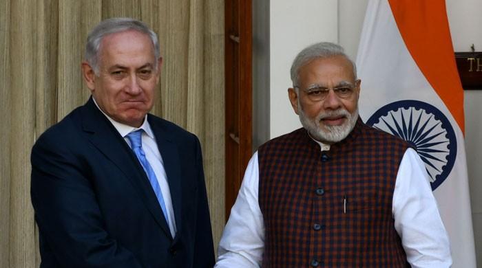 اسرائیلی وزیراعظم کی مودی سے ملاقات، متعدد معاہدوں پر دستخط