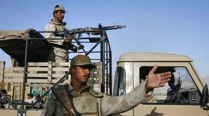 بلوچستان: سیکیورٹی فورسز کی گاڑیوں پر فائرنگ، 5 اہلکار شہید