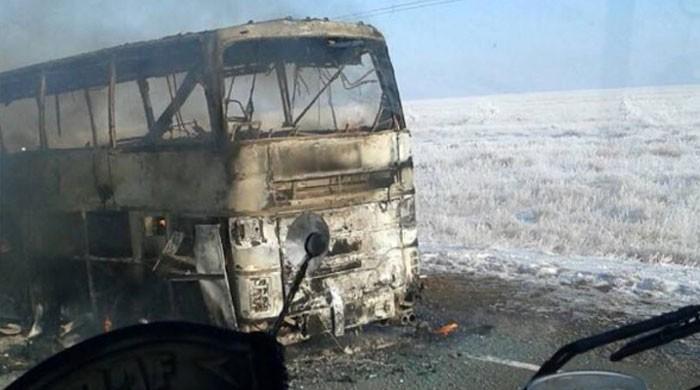 قزاقستان: بس میں آتشزدگی سے 52 افراد ہلاک