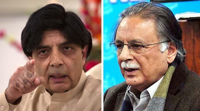 پرویز-نثار لفظی جنگ: شہباز شریف کی سابق وزیر داخلہ کی حمایت