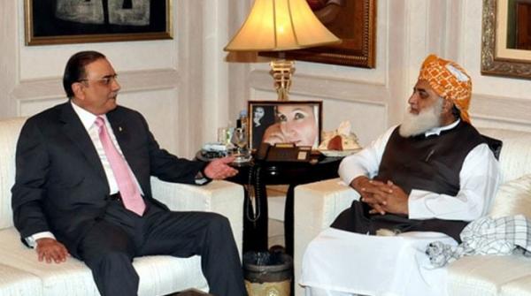 زرداری فضل الرحمان ملاقات؛ بلوچستان کی طرز پر خیبر پختونخوا میں تبدیلی لانے پر غور