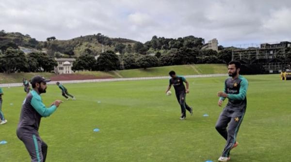 پاک-نیوزی لینڈ پہلے ٹی ٹوئنٹی میچ سے قبل قومی ٹیم کی پریکٹس