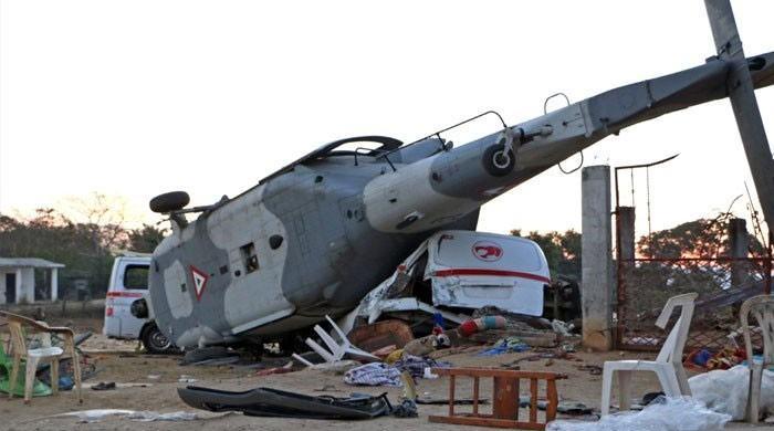 میکسیکو میں فوجی ہیلی کاپٹر کو حادثہ،13 افراد ہلاک