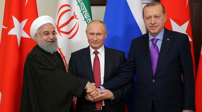 ترک صدر کا روسی و ایرانی ہم منصب سے ٹیلی فونک رابطہ