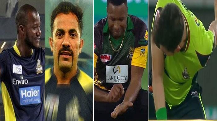پاکستان سپر لیگ میں کھلاڑیوں کے نرالے انداز