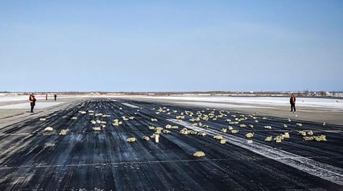 روس کے ایئرپورٹ پر سونے کی بارش